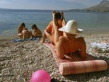 Enjoying the summer holidays stock photo