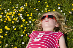 Enjoying the summer sun royalty free stock photography
