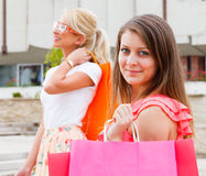 Enjoying Summer Time Shopping Royalty Free Stock Photography
