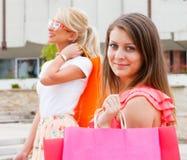 Enjoying Summer Time Shopping Royalty Free Stock Photography