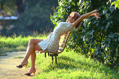 Enjoying the sun Stock Photo