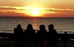 Enjoying sunset at Ameland Island, the Netherlands Royalty Free Stock Photos