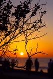 Enjoying sunset, La Jolla Cove, California royalty free stock photos