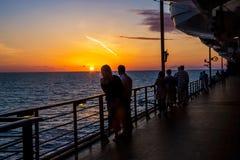 Enjoying the Sunset Stock Photos