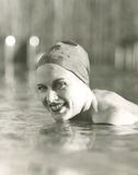 Enjoying a swim Stock Photo