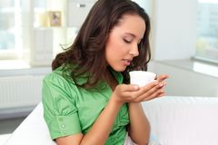 Enjoying tea Royalty Free Stock Photography