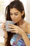 Enjoying tea Royalty Free Stock Image