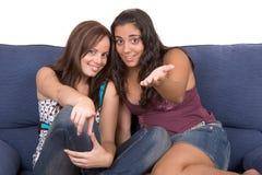 Enjoying teens ! stock images