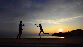 Enjoying the tennis beach lifestyle, stock video