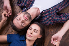 Enjoying their closeness. Stock Images