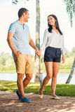 Enjoying their time together. Stock Photography