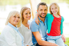 Enjoying time with family. Stock Images