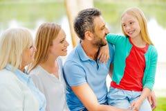 Enjoying time with family. Stock Photos