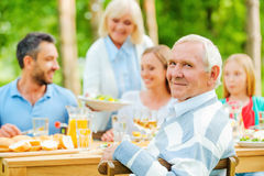 Enjoying time with family. Royalty Free Stock Images