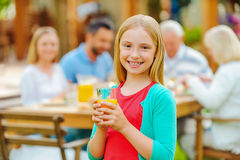 Enjoying time with family. royalty free stock photography