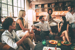 Enjoying time with friends. Stock Photos