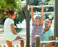 Enjoying time on playground Royalty Free Stock Image