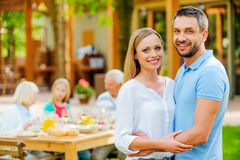 Enjoying time with their nearest. Royalty Free Stock Photography