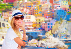Enjoying travel to Europe Stock Photo