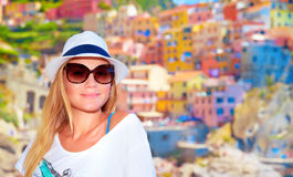 Enjoying travel to Europe Royalty Free Stock Image