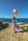 Enjoying vacation in Peloponnese royalty free stock image