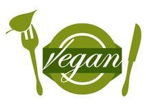 Enjoying vegan food Stock Photos
