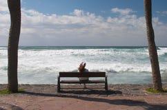 Enjoying the view. Enjoying the sea view Stock Image