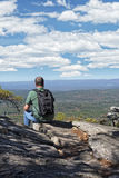 Enjoying The View At Cheaha Overlook Stock Photo