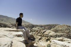 Enjoying view of mountain Stock Images