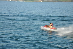 Enjoying the view of Ontario lake Stock Photo