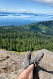 Enjoying the View of the San Juan Islands Stock Images