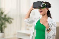 Enjoying virtual reality Royalty Free Stock Images