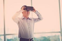Enjoying VR experience Royalty Free Stock Photo