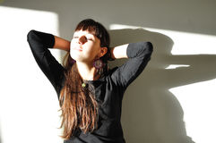 Enjoying the warm light Stock Photography