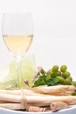 Enjoying white-wine Stock Photography