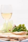 Enjoying white-wine Stock Photography