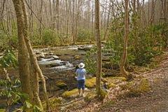 Enjoying the Wild River Royalty Free Stock Photos