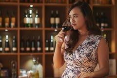 Enjoying wine Stock Photos