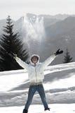 Enjoying winter Stock Photography
