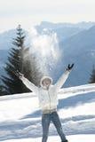 Enjoying winter Stock Image