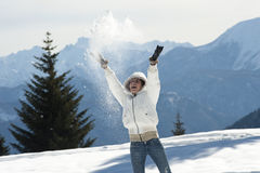 Enjoying winter Royalty Free Stock Images