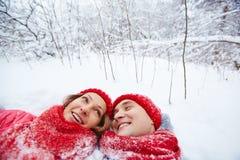 Enjoying winter Royalty Free Stock Photography
