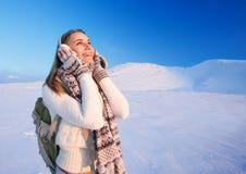 Enjoying winter holidays Stock Images
