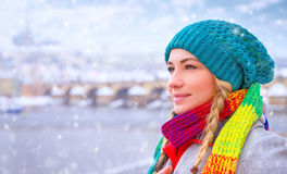 Enjoying winter holidays Royalty Free Stock Photography