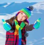 Enjoying winter holidays Stock Photos
