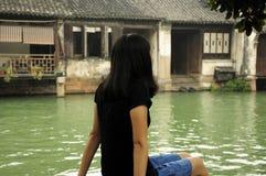 Enjoying Wuzhen China View Royalty Free Stock Photo