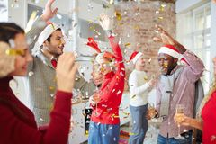 Free Enjoying Xmas Party Royalty Free Stock Image - 105093766