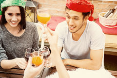 Enjoyment Beverage Wine Occasion Party Concept. Christmas, new year Stock Photo
