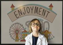 Enjoyment Entertainment Amusement Park Concept Stock Photography