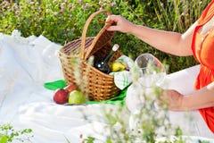 Enjoyng lunch, picnic Obraz Royalty Free